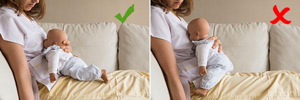 amamantar dar el pecho postura lactancia caballito